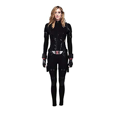 Womens Black Costume Widow Cosplay Halloween Full Set Outfits 3XL]()