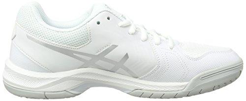 0193 Deporte Asics Mujer Zapatillas Gel Blanco para 5 Dedicate White de Silver PXAPqx