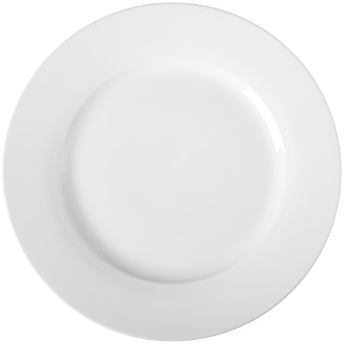 AmazonBasics 6-Piece White Dinner Plate Set -