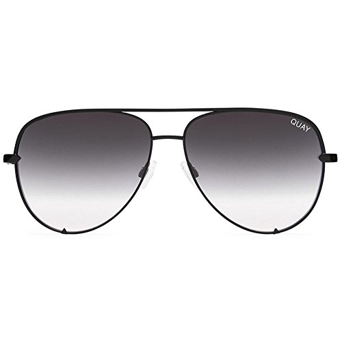 Quay Australia X Desi Perkins HIGH KEY MINI Sunglasses in Black - Fade High Black Key