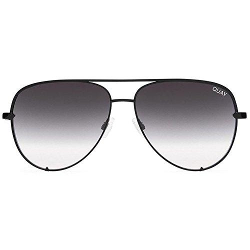Quay Women's x Desi Perkins High Key Sunglasses, Black/Fade, One - Quay Black Sunglasses