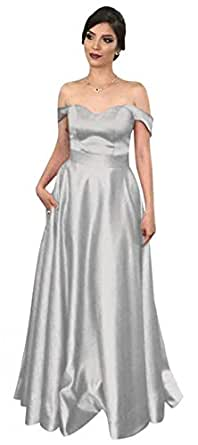 Vweil Women's Prom Dress Off The Shoulders A Line Long