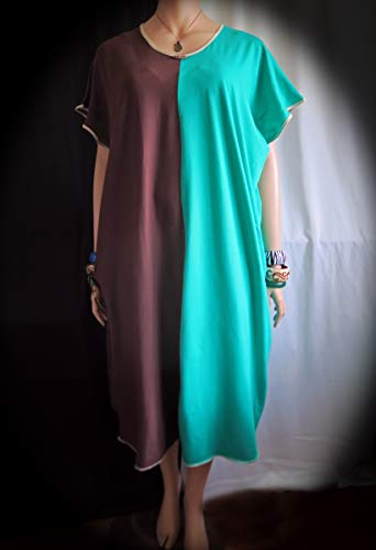 Semi Coco Dress - Super soft comfortable stretch jersey fabric - Made in Hawaii - Perfect for travel ! Fits Large 1XL - Glass bead adornment