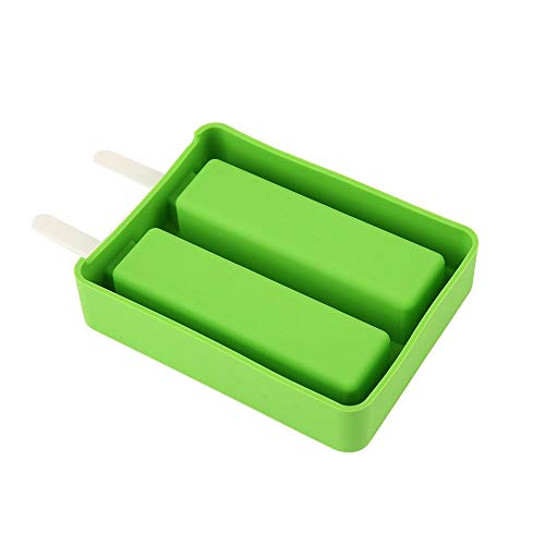 (ZSJZHB Ice Cube Mold with Lid, Ice Cream Stick Mold Popsicle Mold DIY Ice Cream Machine, Silicone Ice Cream Mold with Lid Popsicle Mold, Wave/Square, Candy Color Ice)