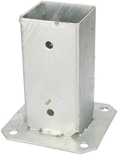 KOTARBAU Aufschraubh/ülse 120 x 120 mm Vierkantholzpfosten Pfosten Bodenh/ülse Zauntr/äger H/ülse Feuerverzinkt Bodenplatte Pfostentr/äger Anker