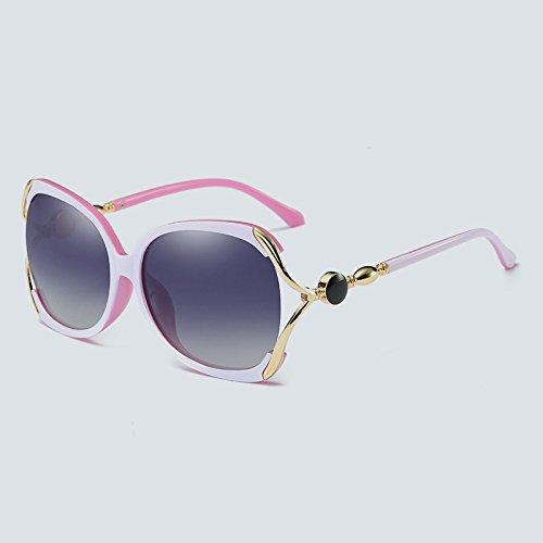 Color Gran Sol Calidad de Gafas Alta de Mujeres Adultos ZX Gafas tamaño Cristal de para 4 Marco de de UV400 Sol para polarizada 4 UP661w0x