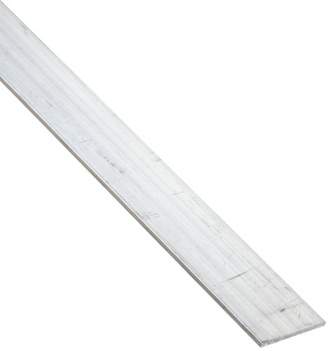 6061 Aluminum Rectangular Bar, Unpolished (Mill) Finish, Extruded, T6511 Temper, ASTM B221, 3/4'' Thickness, 6'' Width, 60'' Length by Small Parts