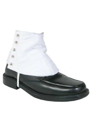 Mens 20's Gangster White Shoe Spats - ST -