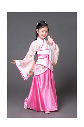 Children Beautiful Dance Costume Princess Dress Fairy Clothing Traditional Chinese Clothing for Kids Hanfu Tang Dynasty Dress,Pink Flower,5T for $<!--$30.81-->