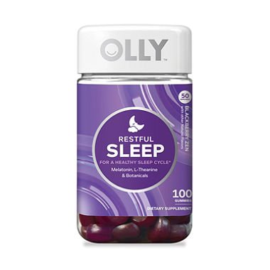 OLLY Restful Sleep Gummy Supplements, Blackberry Zen 100 count