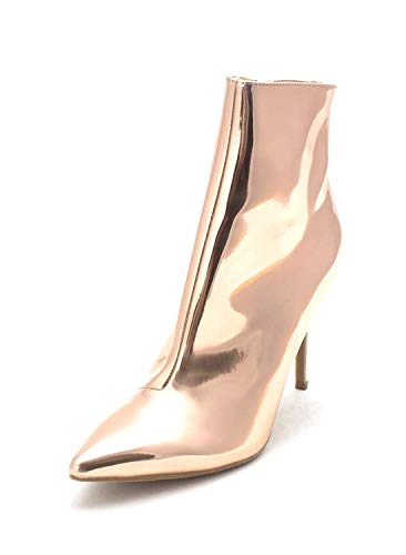 Thalia Sodi Womens Rylie Pointed Toe Ankle Fashion Boots, Rose Gold, Size 5.0