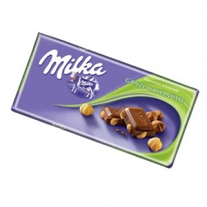 World's Best Milka Chocolate - Whole Nuts, 10 Bars by Indulgence