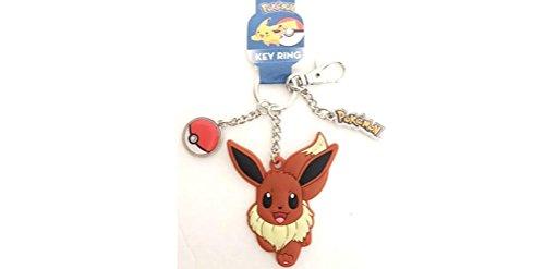 Keychain Metal Charm (UPD Pokemon Eevee Rubber & Metal Pokemon Pokeball Charm Keychain)