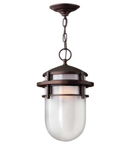Outdoor Pendant 1 Light With Victorian Bronze Translucent Sandblasted Glass Cast Aluminum GU24 9 inch 26 Watts - Sandblasted Pendant Lamp