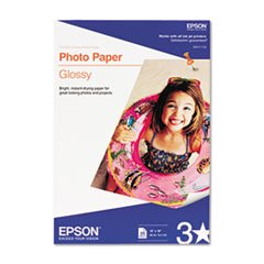 aper, 60 lbs, Glossy, 13 x 19, 20 Sheets/Pack ()