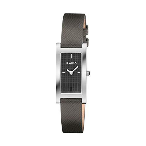Elixa e105-l418 Womens Watch Finesse - Caja rectangular gris Dial Gris correa: Elixa: Amazon.es: Relojes