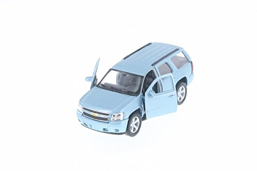 Welly 2008 Chevy Tahoe, Metallic Light Blue 43607D - 5