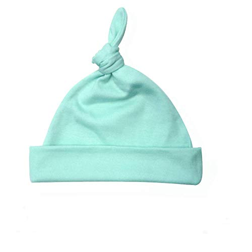 - Laughing Giraffe Baby Adjustable Knotted Beanie Hat - Poly/Cotton - Mint