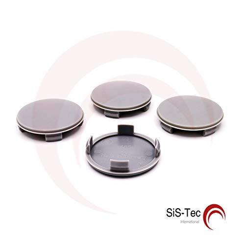 NABENKAPPEN NABENDECKEL FELGENDECKEL 60, 0 mm - N40 - Grau (4 Stü ck) SiS-Tec