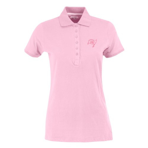 - NFL Women's Tampa Bay Buccaneers Spark Short Sleeve Polo (Mid Pink, Medium)