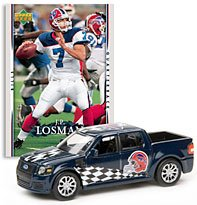 Buffalo Bills - JP Losman (Blue Car) 2007 Upper Deck Collectibles NFL Ford SVT Adrenalin Concept with - Today Bills Game Buffalo