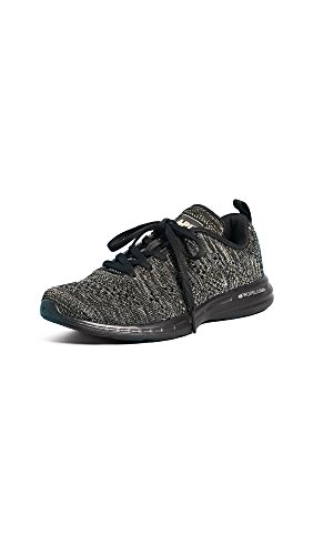 APL: Athletic Propulsion Labs Women's TechLoom Pro Sneakers, Black/Silver/Gold/Black, 9 B(M) US
