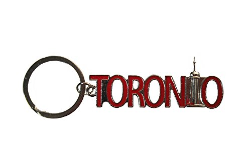 Lettering Cut Out - TORONTO Cut - Out Lettering With CN Tower Metal Keychain .. New