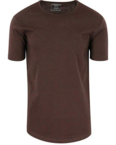 - ShirtBANC Mens Hipster Hip Hop Long Drop Tail T Shirts (Cacao Shell, S)