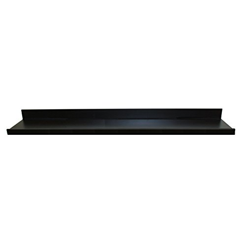4682 Floating Wall Shelf with Picture Ledge, Black, 60-Inch Wide by 4.5-Inch Deep by 3.5-Inch High (Black Wood Shelf)