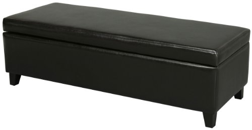 Best Selling York Storage Ottoman, Black