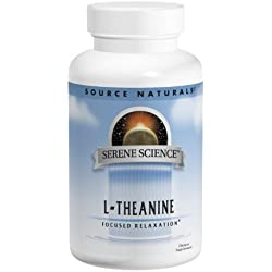 Source Naturals Serene Science L-Theanine, Focused Relaxation, 30 Capsules