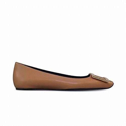 de DHG del Cabeza Retro Zapatos la Cuadrada de Hebilla Planos la del UVA la de Hembra Zapatos Los la an Elegante la Resorte los Lado de studiolee 40 UN UMA Dise 2018 de rYn78r