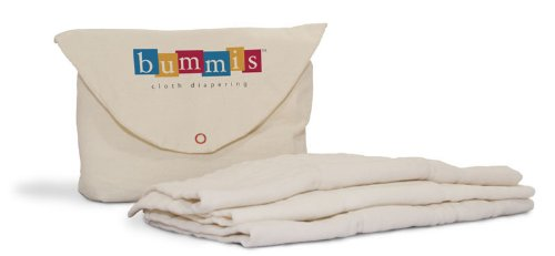 Bummis- Organic Cotton Prefolds Diaper, 7-20 Pounds Bummies PFORG-S bms-004-0002