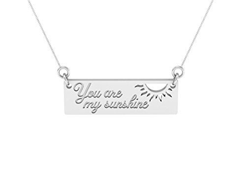 Sterling Silver You Are My Sunshine Bar Necklace by Dayna (U Are My Sunshine)