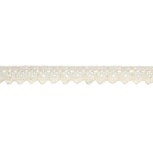 BELAGIO Enterprises 5/8-inch Rick Rack Cotton Venise Lace Trim 10 Yards, Ivory (Rack Cotton Rick)