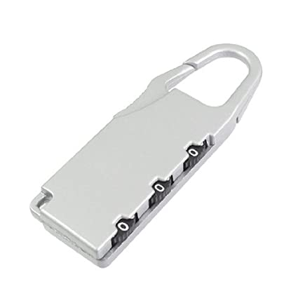 Bloqueo eDealMax tono Plata 3 dígitos reajustable de Seguridad Codificado Candado - - Amazon.com