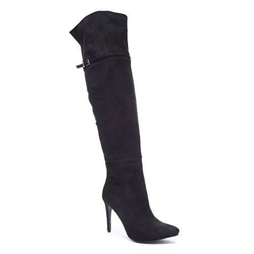 Chinese Laundry Women's Center Stage Sued Knee High Boot, Black, 9.5 M US