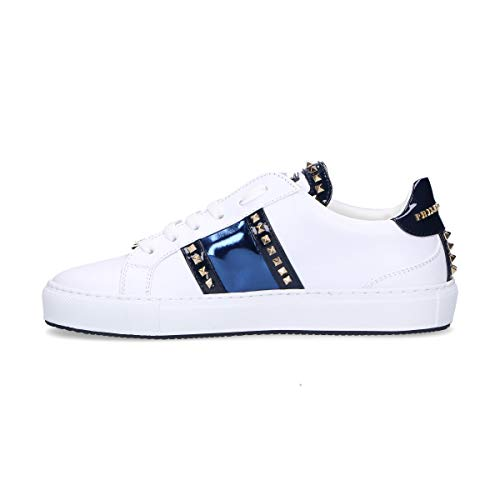 Philipp Wsc0963114 White Leather Plein Sneakers Women's raxa0z