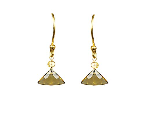 Citrine Drop Vermeil Earrings