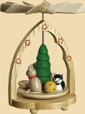 1- tier Mini Pyramid Cats - 4 inch - 10 cm - Richard Glässer