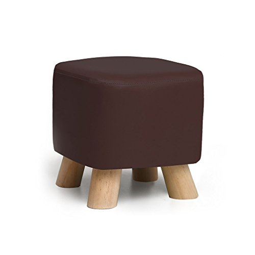 LS-Stool Solid Wood Shoes Stool Fashion Creative Party Fabric Sofa Tea Table Bench Home Stool 4 Styles(28cmX25cm) /& (Color : Brown)