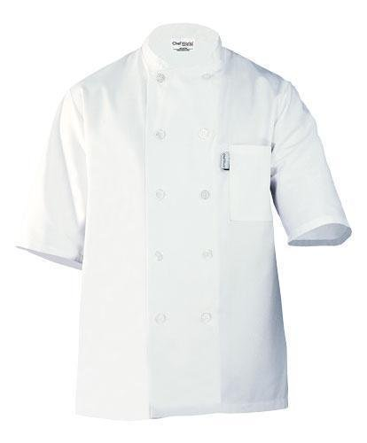 Chef Works PCSS Volnay Short Sleeve Basic Chef Coat, White, X-Large by Chef Works