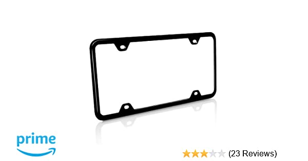 EARLY FORD CHROME LICENSE PLATE FRAME WITH SQUARE CORNERS