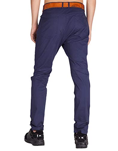Mezzanotte Slim Blu Morn Colori Italy Uomo Jogging Casual Pantaloni Fit Cargo Chino 21 16Pa60