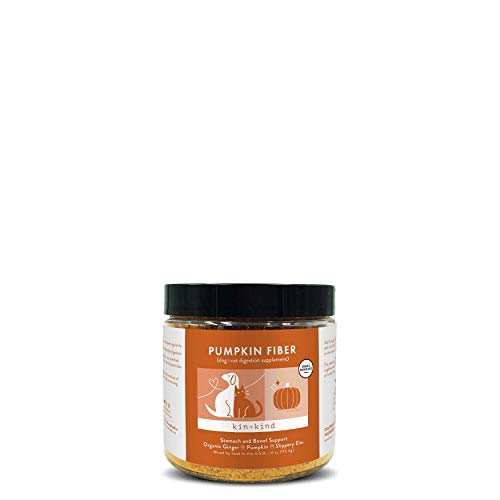kin+kind Pumpkin Boost (Organic Stomach and Bowel Support) | Dog & Cat | Organic Flax Seed, Pumpkin, Organic Coconut, Organic Ginger (4oz)