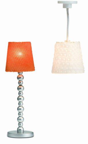 Lundby Smaland Dollhouse Floor and Ceiling Lamps Set