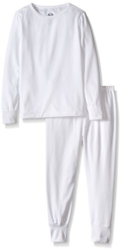 Fruit of the Loom Girls' Little Performance Thermal Underwear Set, Artic White 6/6X ()