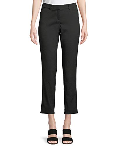 Lafayette 148 New York Womens Downtown Jacquard Cropped Pants, Black (Sz 12) ,Large  ()