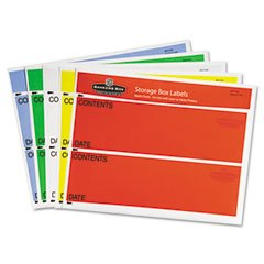 Fellowes CRC00271 Storage Box Labels, 8-1/2