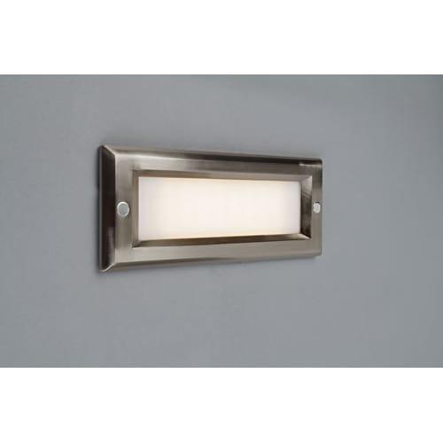 Step 8 3/4''W Brushed Nickel Opal Lens Outdoor LED Step Light by Bruck Lighting